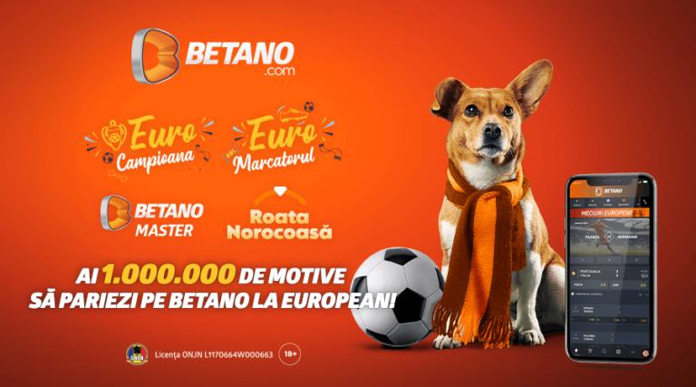 De ce să pariezi la Betano pe meciurile de la EURO 2020!