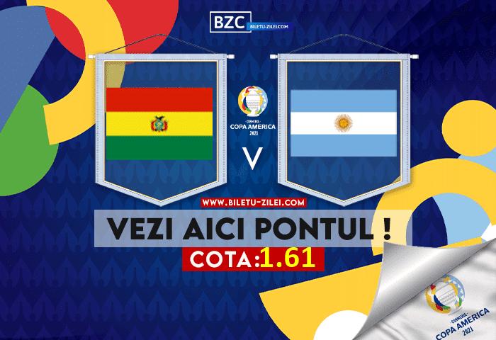Bolivia – Argentina ponturi pariuri 29.06.2021
