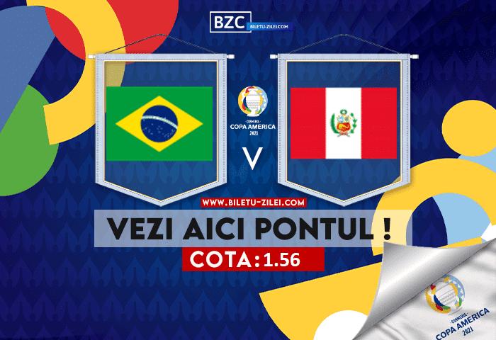 Brazilia – Peru ponturi pariuri 18.06.2021