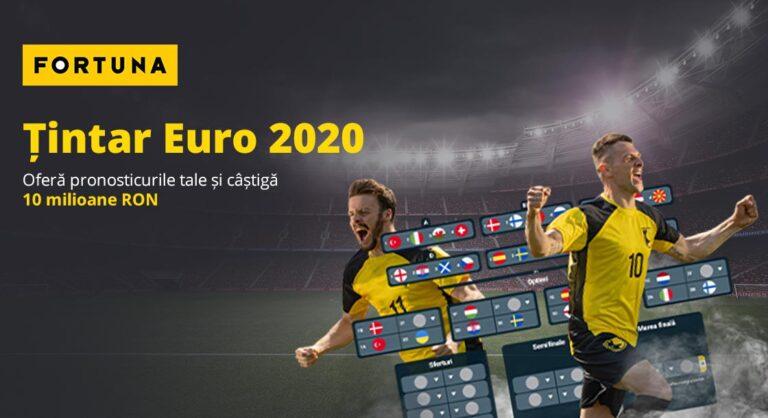 Completează țintarul Euro 2020 si câștigă 10 milioane RON