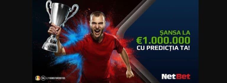 Câștigă 1.000.000€ cu Netbet Predictor la EURO 2021