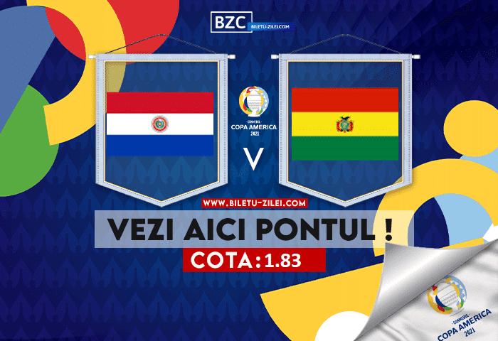 Paraguay – Bolivia ponturi pariuri 15.06.2021