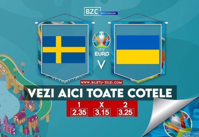 Suedia – Ucraina ponturi pariuri 29.06.2021