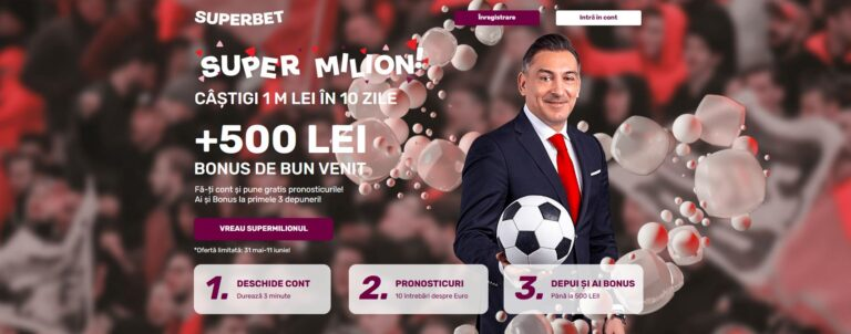 Câștigă 1.000.000 de lei cash cu SuperMilion