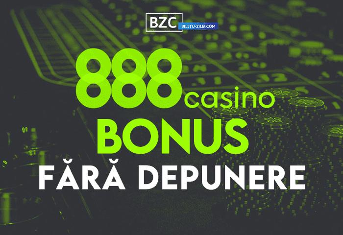 888 Casino bonus fără depunere