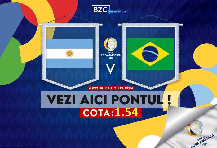 Argentina – Brazilia ponturi pariuri 11.07.2021