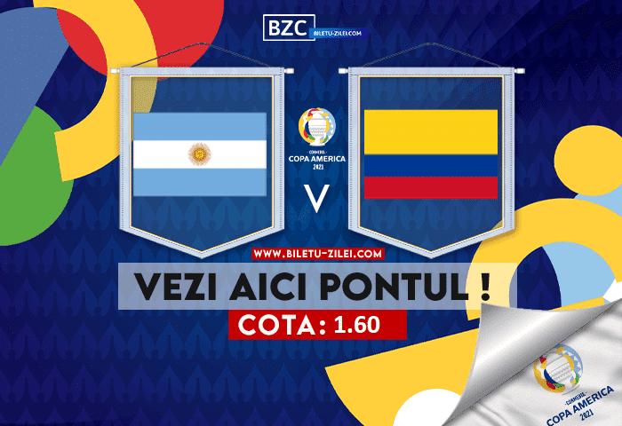 Argentina – Columbia ponturi pariuri 07.07.2021