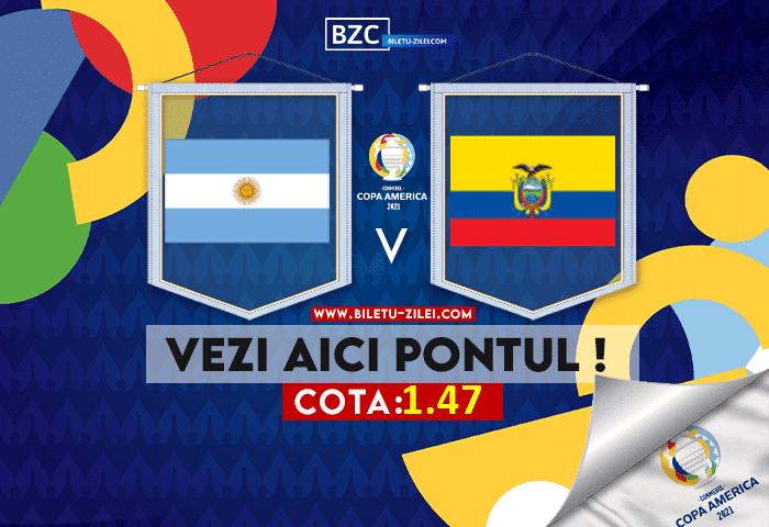 Argentina – Ecuador ponturi pariuri 04.07.2021