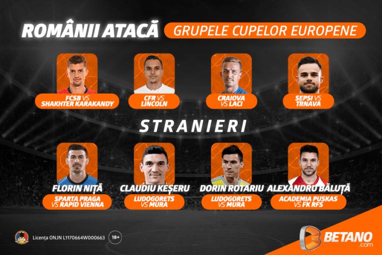 Echipele românești luptă pentru grupele cupelor europene!