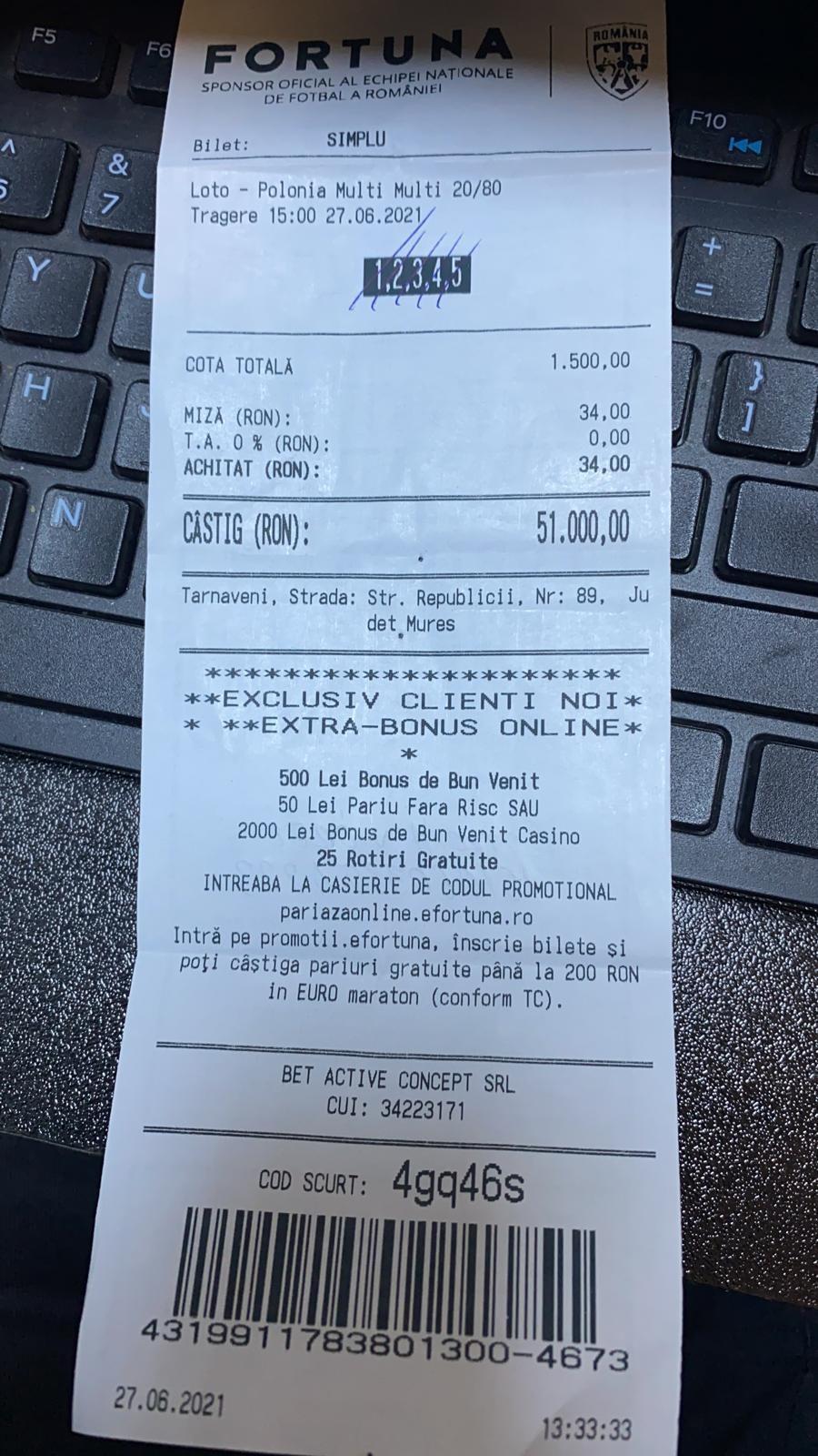bilete castigatoare loto polonia