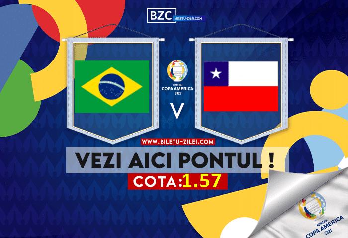 Brazilia – Chile ponturi pariuri 03.07.2021