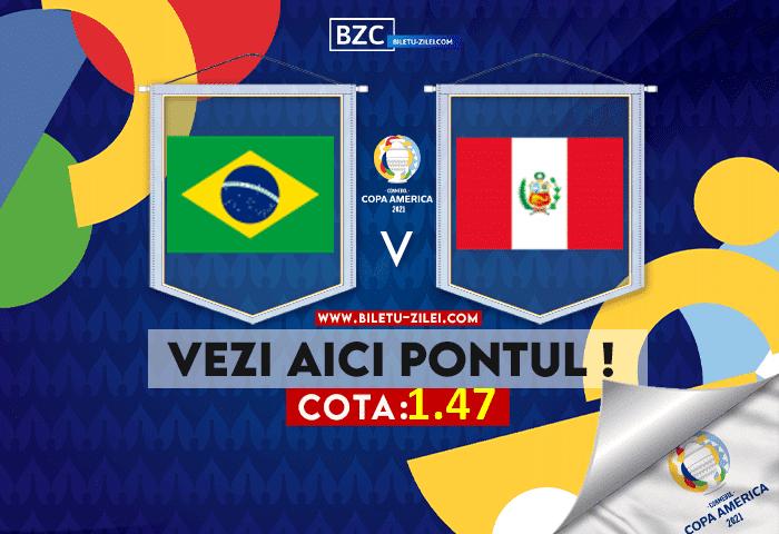 Brazilia – Peru ponturi pariuri 06.07.2021