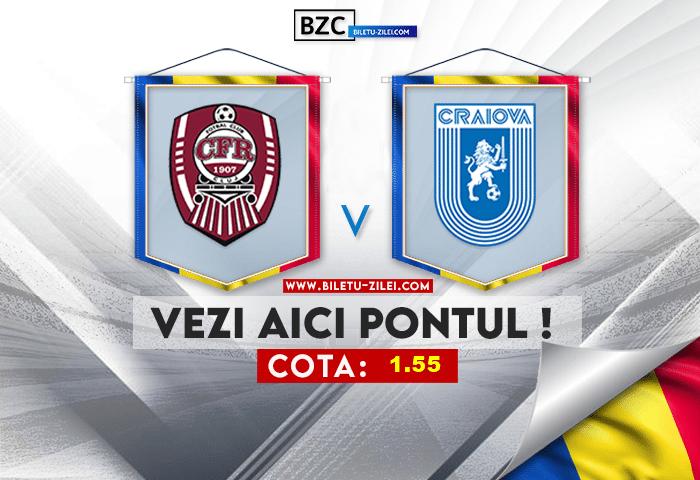 CFR Cluj – U Craiova 1948 ponturi pariuri 16.07.2021