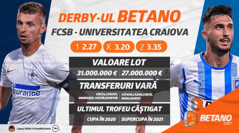 Derby-ul Betano, cel mai important meci al etapei secunde din Liga 1