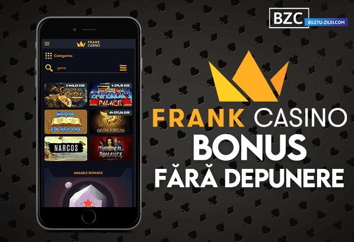 Frank Casino bonus fără depunere