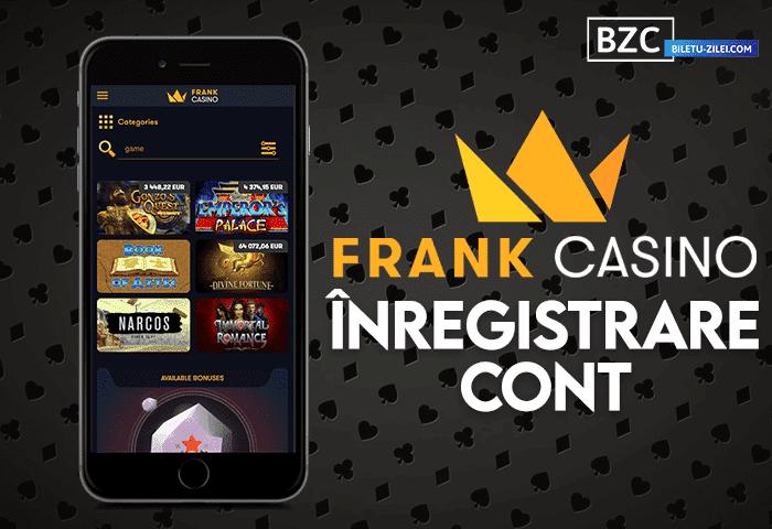 Frank Casino înregistrare cont