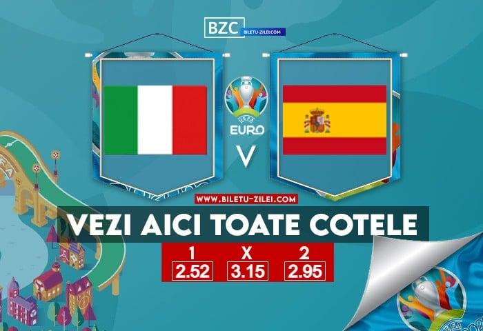 Italia – Spania ponturi pariuri 06.07.2021