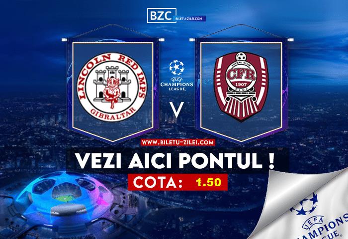 Lincoln – CFR Cluj ponturi pariuri 20.07.2021