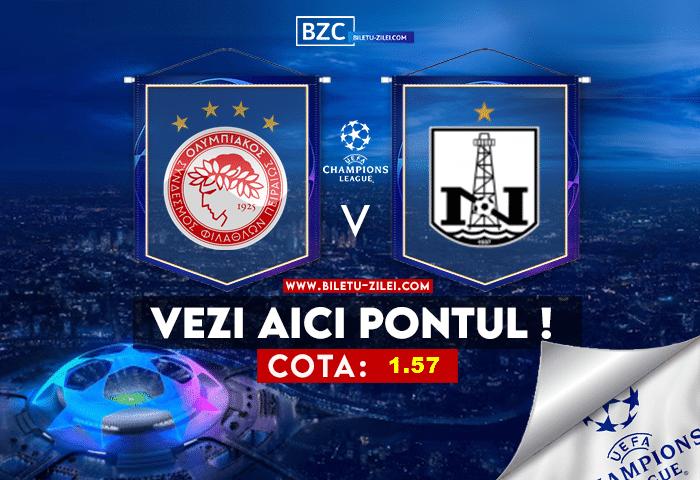 Olympiakos – Neftci Baku ponturi pariuri 21.07.2021