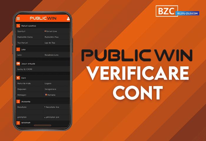 Publicwin verificare cont