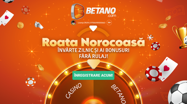 Roata Norocoasă a revenit pe Betano! Învârte-o zilnic!