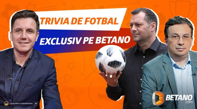 Vezi cum poți câștiga premii cu Trivia de Fotbal la Betano!