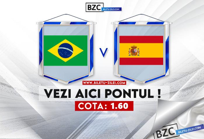 Brazilia – Spania ponturi pariuri 07.08.2021