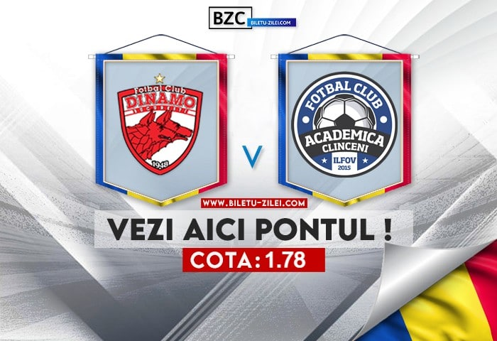 Dinamo – Academica Clinceni ponturi pariuri 02.08.2021