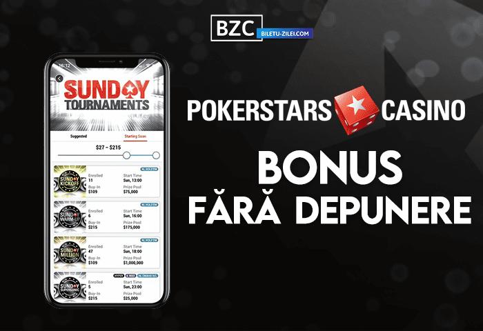 pokerstars casino bonus fara depunere