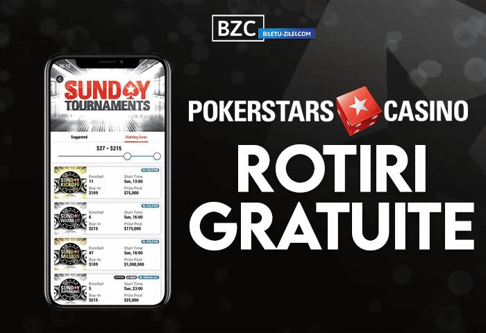 Pokerstars Casino rotiri gratuite