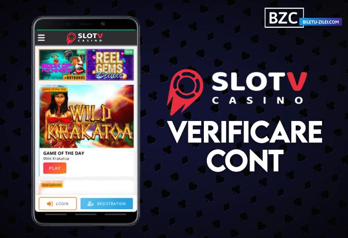 SlotV – verificare cont