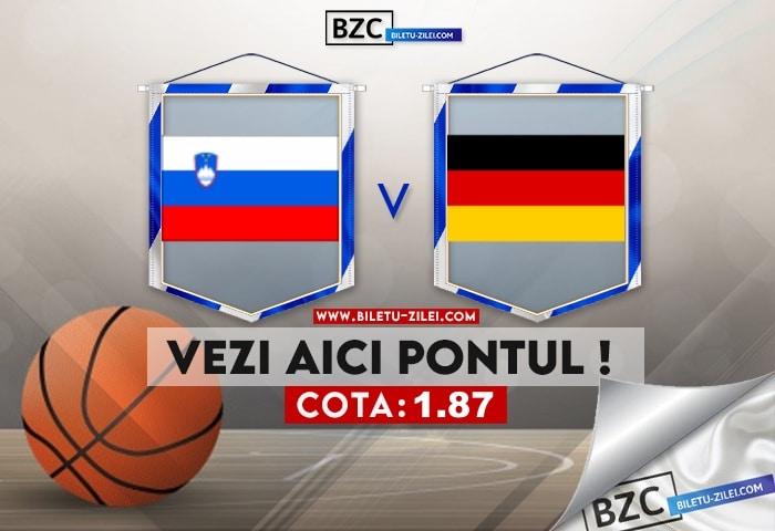 Slovenia – Germania ponturi pariuri 03.08.2021