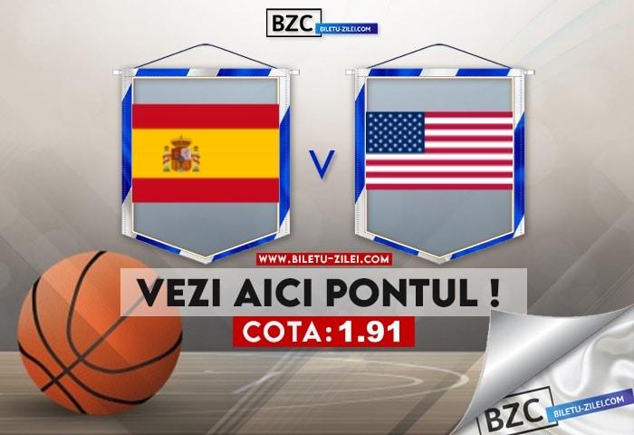 Spania – SUA ponturi pariuri 03.08.2021
