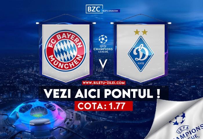 Bayern – Dinamo Kiev ponturi pariuri 29.09.2021