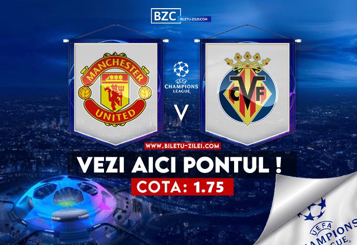 Manchester United – Villarreal ponturi pariuri 29.09.2021
