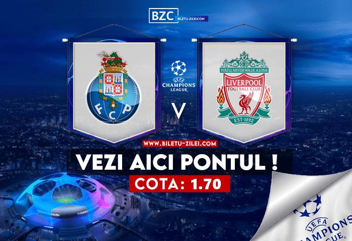 FC Porto – Liverpool ponturi pariuri 28.09.2021
