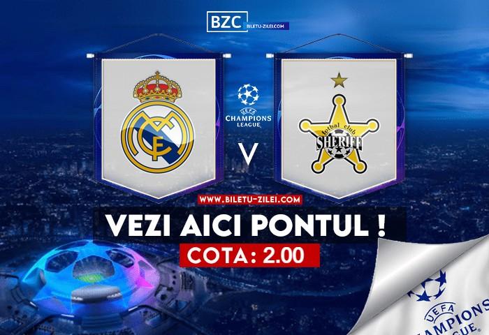 Real Madrid – Sheriff ponturi pariuri 28.09.2021