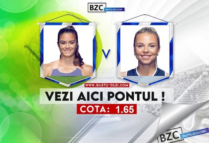 Maria Sakkari – Anett Kontaveit ponturi pariuri 26.09.2021