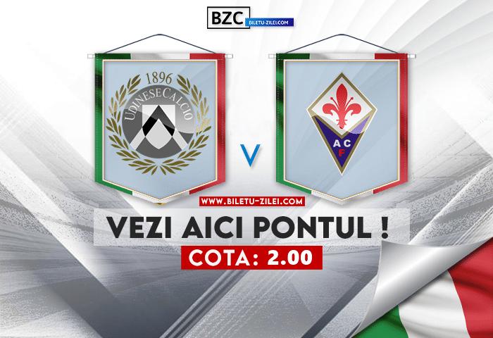 Udinese – Fiorentina ponturi pariuri 26.09.2021