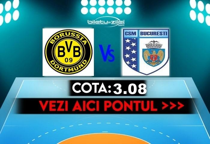 Borussia Dortmund – CSM Bucuresti ponturi pariuri 17.10.2021