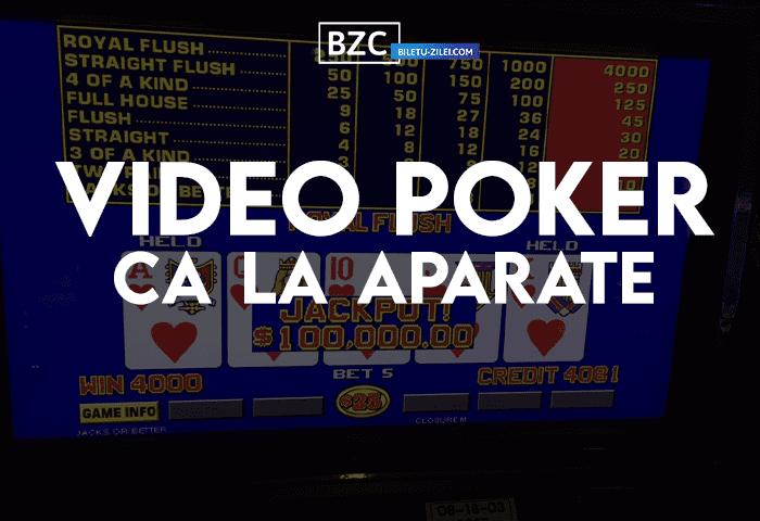 Video Poker ca la aparate – ghid pentru începători