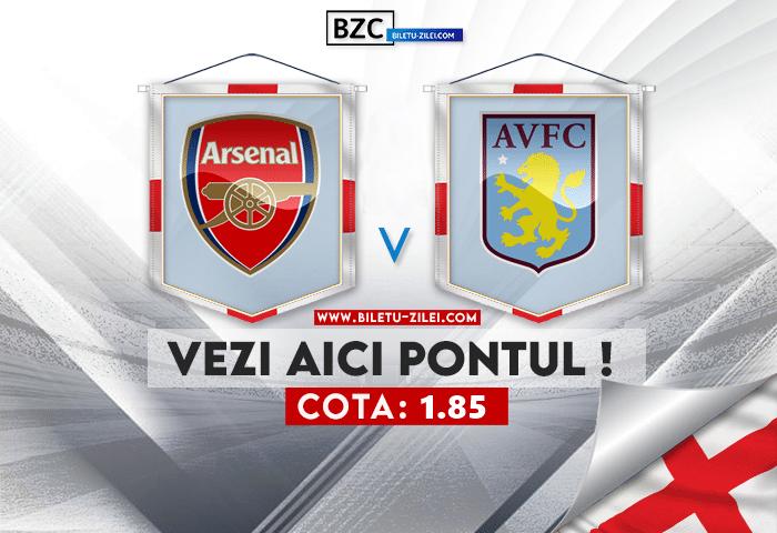 Arsenal – Aston Villa ponturi pariuri 22.10.2021