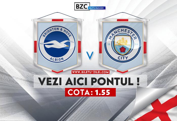 Brighton – Manchester City ponturi pariuri 23.10.2021