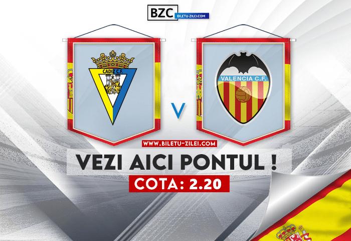 Cadiz – Valencia ponturi pariuri 02.10.2021