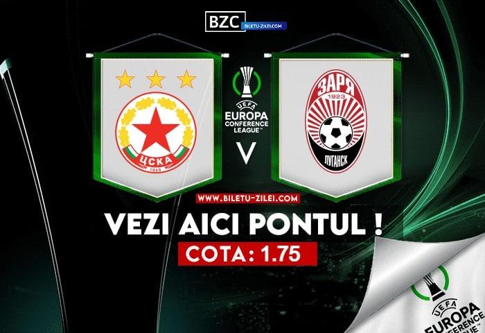 CSKA Sofia – Zorya ponturi pariuri 21.10.2021
