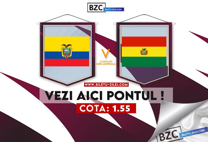 Ecuador – Bolivia ponturi pariuri 08.10.2021