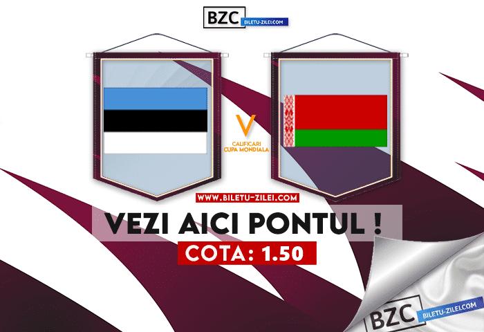 Estonia – Belarus ponturi pariuri 08.10.2021