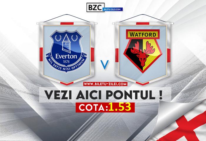 Everton – Watford ponturi pariuri 23.10.2021