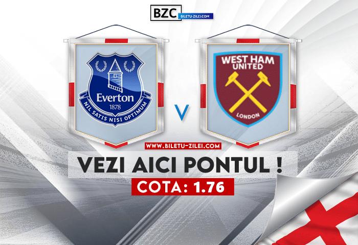 Everton – West Ham ponturi pariuri 17.10.2021