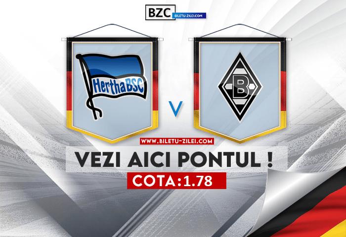 Hertha – Monchengladbach ponturi pariuri 23.10.2021